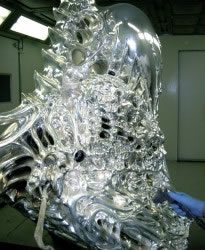 This is the actual motorcycle used in the movie Ghost Rider starring Nicholas Cage.