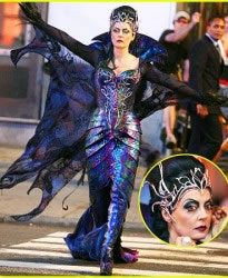 susan-sarandon-enchanted with Cosmichrome tiara and corset