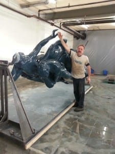Statue in base coat