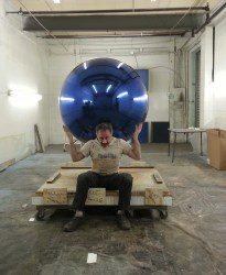 Blue Chrome Sphere for Lady Gaga