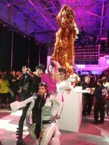 Gold Statue at Party