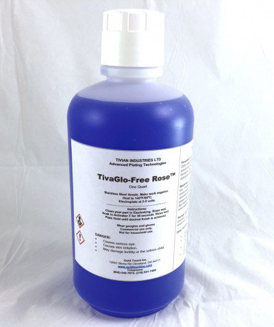 TivaGlo-Free Rose Gold QT Non cyanide gold plating solution