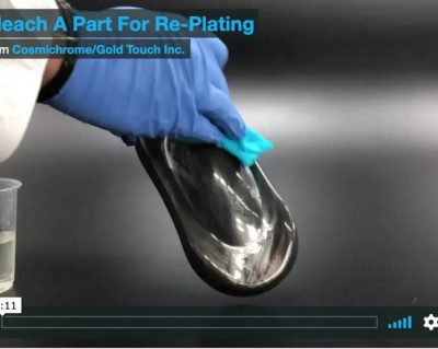 Bleaching to re-plate silver