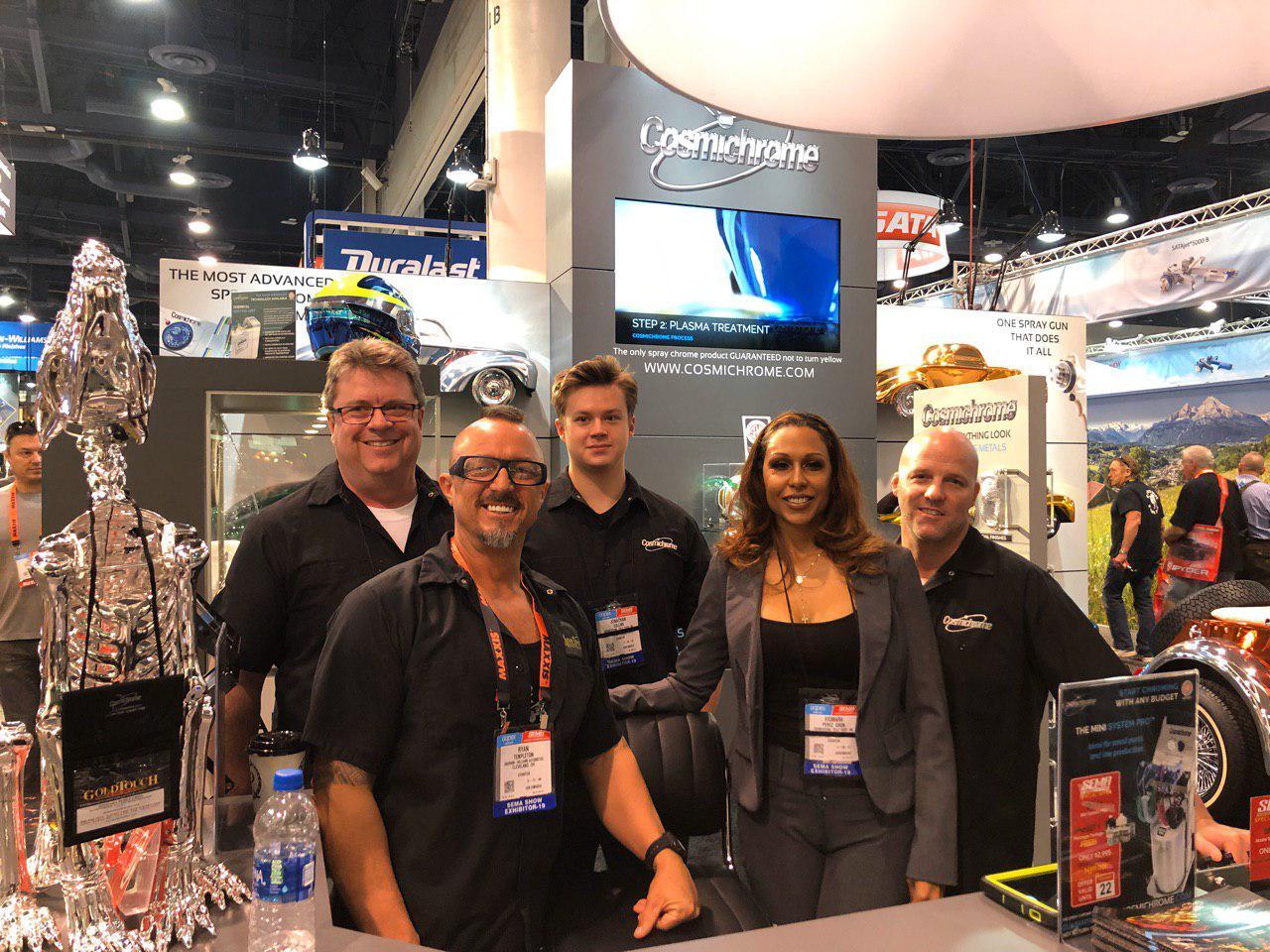 The Gold Touch/Cosmichrome crew at SEMA 2019